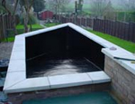 A feature Koi pond fibreglassed by GRP