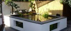 A stunning pond fibreglassed by GRP